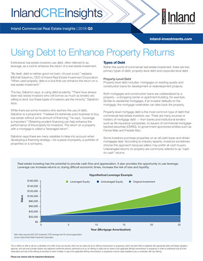 Using Debt to Enhance Property Returns
