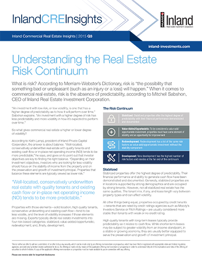 Understanding the Real Estate Risk Continuum