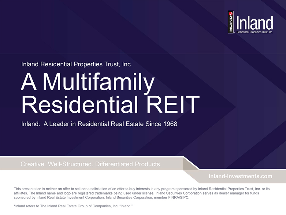 Inland Real Estate - A Multifamily Residential REIT