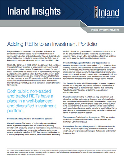 Inland Insights - Adding REITs