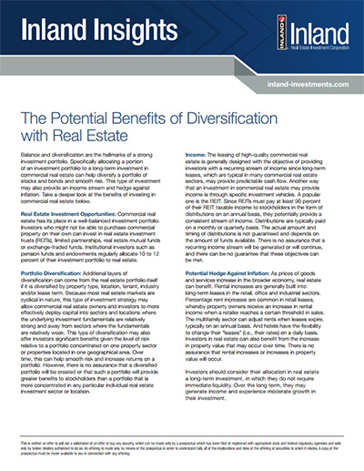 Inland Insights - Potential Benefits of Diversification