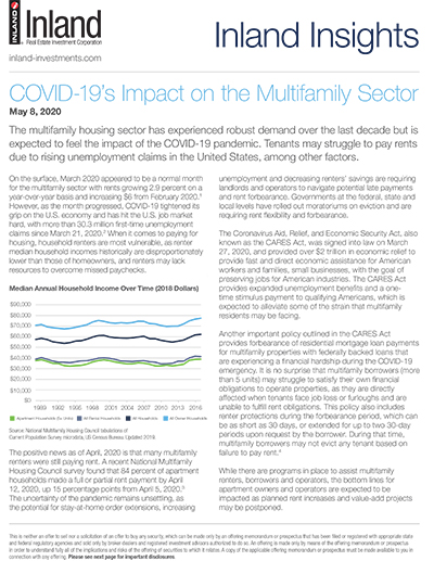 COVID-19's Impact on the Multifamily Sector