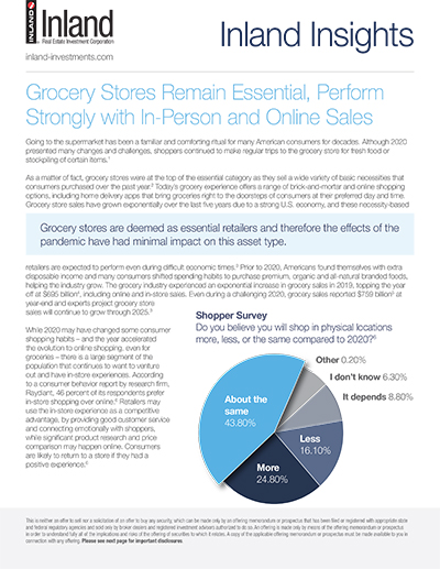 Grocery Stores Remain Essential, Perform Strongly with In-Person and Online Sales