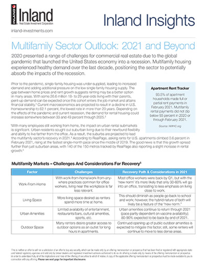 Multifamily Sector Outlook: 2021 and Beyond