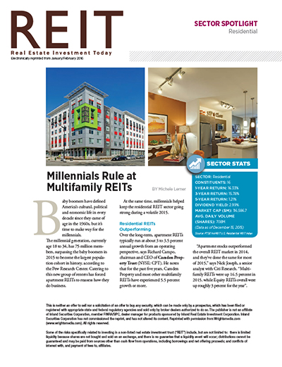 Millennials Rule at Multifamily REITs