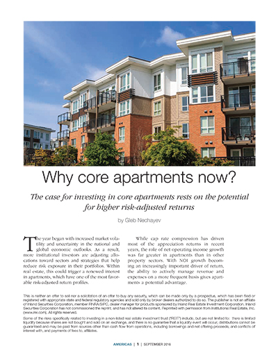 Why Core Apartments Now?